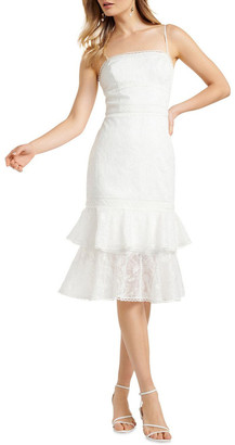 Forever New Alette Tiered Lace Midi Dress