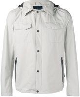 Herno hooded press-stud jacket