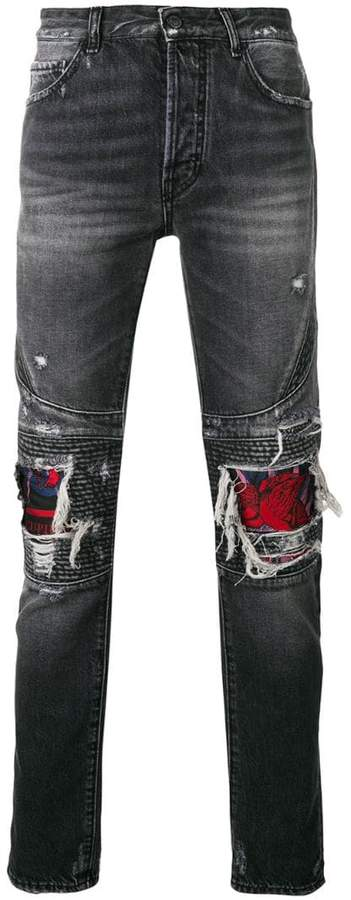 Marcelo Burlon County of Milan Skull biker jeans