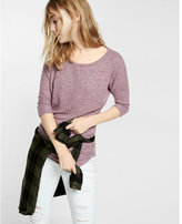 Express one eleven brushed side ruched tee