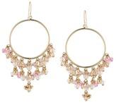 Carolee Gracie Mansion Beaded Hoop Drop Earrings