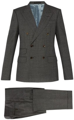 Gucci Double-breasted Wool Suit - Mens - Grey