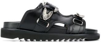 Toga Pulla western buckle strap sandals