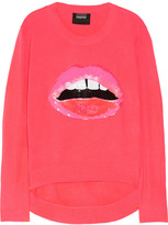 Markus Lupfer Lips sequin-embellished neon knitted sweater