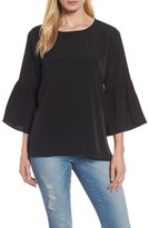Bobeau Women's Bell Sleeve Blouse