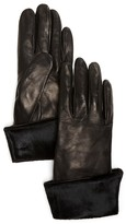 Bloomingdale's Calf Hair Cuff Glove