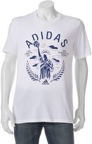 """adidas Big & Tall Life Liberty and the Pursuit of Hoops"""" Performance Tee"""