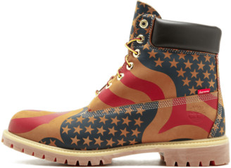 Timberland 6 in Premium 'Supreme American Flag' Shoes - Size 8.5