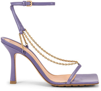 Bottega Veneta Ankle Strap Chain Sandals in Lavender | FWRD