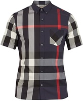 Burberry Thornaby House-check print cotton-blend shirt