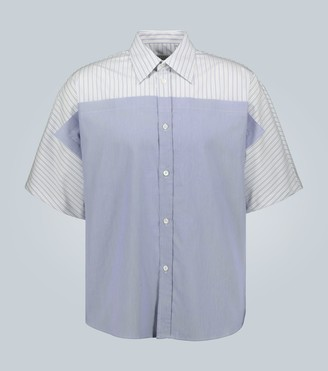 Maison Margiela Contrast-panel striped shirt