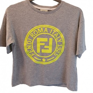 Fendi Grey Cotton Tops