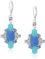 """Nine West Jewel Azure"""" Silver-Tone/Blue Chandelier Drop Earrings"""