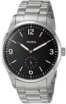 Fossil Mens FS5245 Vintage 54 Two-Hand Sub-Second Stainless Steel Watch