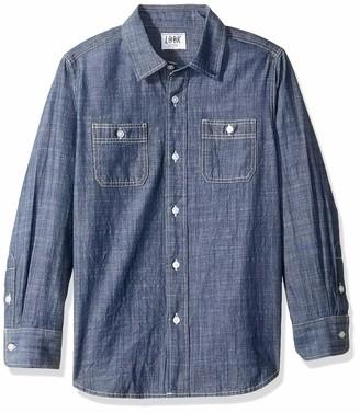 Look by crewcuts Boys' Long Sleeve Chambray Shirt