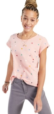 Style&Co. Style & Co Four-Leaf Clover Printed T-Shirt, Created for Macy's