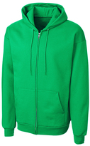 Clique Green Fleece Zip-Up Hoodie - Unisex