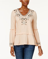Style&Co. Style & Co Style & Co Petite Embroidered Peplum Top, Created for Macy's