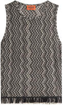 Missoni Fringed Sleeveless Top with Wool