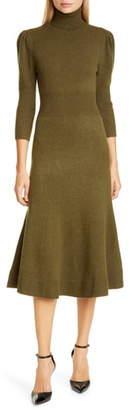 Michael Kors Puff Sleeve Cashmere Sweater Dress
