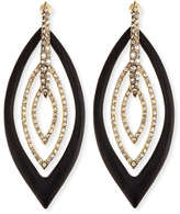 Alexis Bittar Pave Crystal & Lucite Orbital Post Earrings