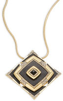 House Of Harlow Lady Luck Square Pendant Necklace