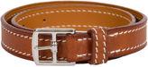 One Kings Lane Vintage Hermès Leather Double-Wrap Bracelet