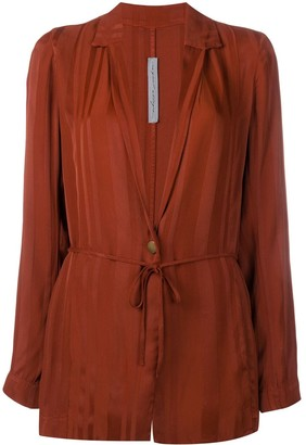 Raquel Allegra belted longline jacket