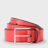 Paul Smith Men's Pink Leather Belt