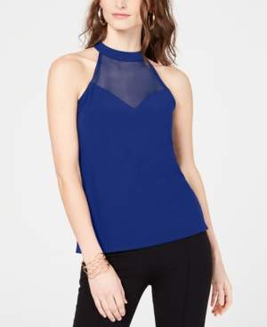 INC International Concepts Inc Illusion Halter-Neck Top, Created for Macy's