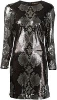 Roberto Cavalli sequin python dress - women - Silk/Polyamide - 44