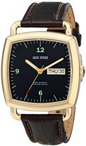 Jack Spade Men's WURU0040 Sutherland Gold-Tone Stainless Steel Watch with Brown Leather Band