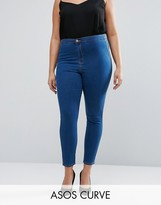 Asos Rivington Jegging in Rich Blue with Tobacco Stitch