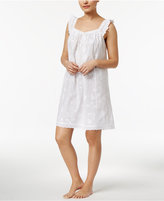 Charter Club Embroidered Cotton Nightgown, Only at Macy's