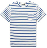 A.P.C. Michael Slim-fit Striped Cotton-jersey T-shirt - Blue