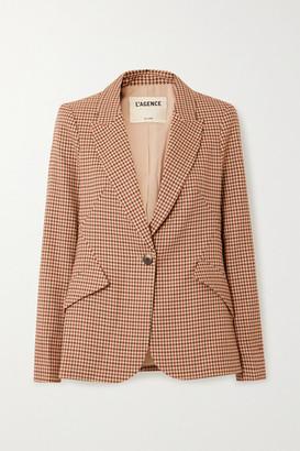 L'Agence Chamberlain Houndstooth Tweed Blazer - Beige