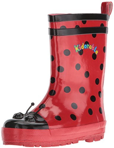 Kidorable Ladybug Rain Boot (Toddler/Little Kid), Red, 7 M US Toddler