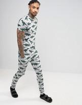 Asos Super Skinny Pajama Bottoms With Dinosaur Print