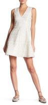 alice + olivia Reba Crochet Embellished Fit & Flare Dress