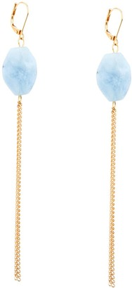 Salome Rocks Collection Aquamarine Earrings With Fringe