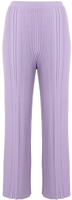 Dion Lee Pinnacle ribbed cropped trousers