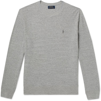 Polo Ralph Lauren Melange Cotton And Linen-Blend Sweater