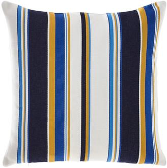 Elaine Smith Harbor Stripe Indoor/Outdoor Pillow