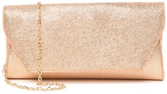 Urban Expressions Electra Metallic Vegan Leather Clutch