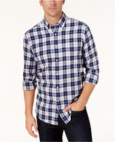 Club Room Men's Plaid Flannel Button-Down Shirt, Created for Macy's