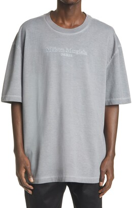 Maison Margiela Logo Embroidered Oversize Cotton Tee