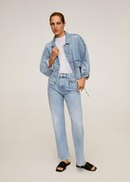 MANGO Adjustable waist denim jacket