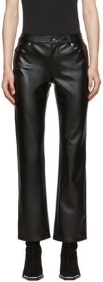 Alexander Wang Black Stretch Faux-Leather Trousers