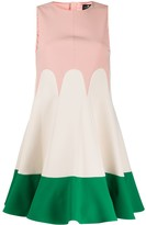 Elisabetta Franchi flared colour-block dress