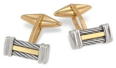 Forzieri Di Fulco Line Gold and Stainless Steel Cufflinks